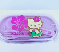 Sanrio Hello Kitty Hawaii Japanese Bento Lunch Box Food Case Container Set New
