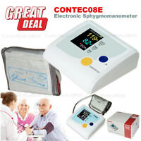 CONTEC08E Digital Automatic Upper Arm Blood Pressure Monitor NIBP Meter BPM