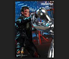 NU Hot Toys 1/6 Special Terminator 2 JUDGMENT DAY T-800 BATTLE DAMAGED T-1000