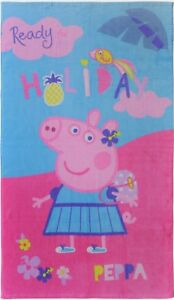 Peppa Pig Wutz Holiday Kinder Badetuch / Strandtuch / Handtuch 70x120cm 100% BW