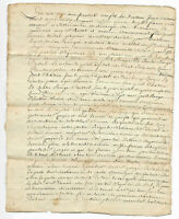 1769 LOUIS XV royal notary signed manuscript document damaged nice stamp
