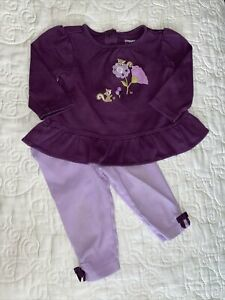 Gymboree Squirrel Cutie Purple Shirt Leggings Size 6-12 Months