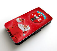 Christmas Santa Claus Drink Coca-Cola New Year Happy Wallet Leather Phone Case
