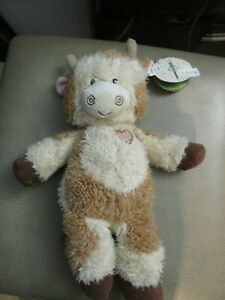 First And Main Tender Betty Cow Plush  Heart 12 Inch