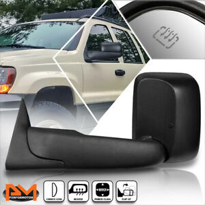 For 94-97 Dodge Ram 1500/2500/3500 Powered+Heated Black Side Towing Mirror Left
