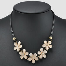 Elehant Women Fashion Charm Crystal Flower Choker Chunky Statement Bib Necklace