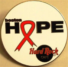Hard Rock Cafe BOSTON 2002 Project Hope Ribbon PIN For Aids Charity Awareness