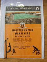 02/11/1957 Wolverhampton Wanderers v Nottingham Forest [Championship Season] (na