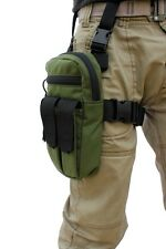 Shock Grenade Tactical Thigh Rig, Green, With Zipper and Pouch