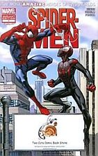 SPIDER-MEN 1 RARE TWO CATS COMIC BOOK STORE LIMITED VARIANT 2 SPIDERMAN AMAZING
