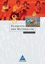 Elemente der Mathematik 8. Schülerband. Niedersachsen von Friedrich Suhr, Helmut