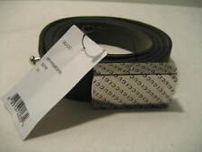 NEW GUCCI Green Suede Leather Womens 30 IN 75 CM Belt Silvertone Logo Buckle Tag