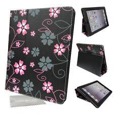 Nuevo Diseño Floral Cuero PU estuche, cubierta con los medios de comunicación Soporte para Apple iPad 2, 3, 4