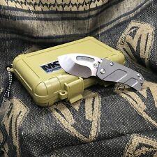 """Medford Hund S35VN 2.25"""" Tumbled Gray Finish Folding Knife MK203ST-01TM"""