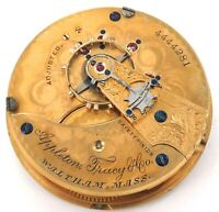 c1891 WALTHAM A.T.&Co 18S 15J LEVER SET MENS POCKET WATCH MOVEMENT.
