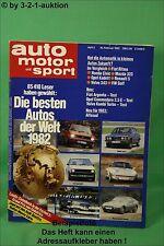 AMS Auto Motor Sport 3/82 Fiat Argenta Volvo 245 Turbo Austin Healey 300