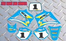 R2 R3 LX3 LEM DECALS GRAPHICS STICKERS 2003-2012 RX 65 150 LIGHT BLUE AND YELLO