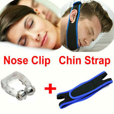 Magnetic Anti Snore Stop Snoring Nose Clip and Chin Strap Sleeping Aid Apnea