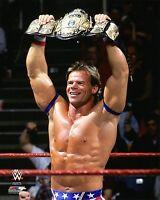 "WWE PHOTO LEX LUGER 8x10"" OFFICIAL WRESTLING PROMO WCW WWF BELT"