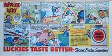Happy Joe Lucky - Dodgers - Campanella, Alston, Pee Wee Reese 1955 comic ad page