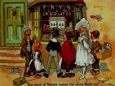 fry's milk chocolate a perfect dream retro vintage style metal wall plaque sign