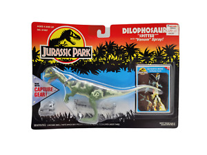 1994 Kenner Jurassic Park Dilophosaurus Spitter W/ Venom Spray And Capture Gear