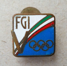 Italy NOC lapel enamel badge RARE Gymnastics Team 17th Olympic Games Rome 1960