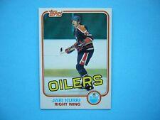 1981/82 TOPPS NHL HOCKEY CARD #18 JARI KURRI ROOKIE NM+ SHARP!! 81/82 TOPPS