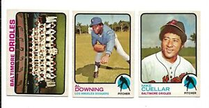 1973 OPC Baseball:Lot of 3 different