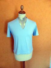 NEU / S.MARLON / Damen Shirt V-Ausschnitt / hellblau / Gr. 46 / Kurzarm / Lycra