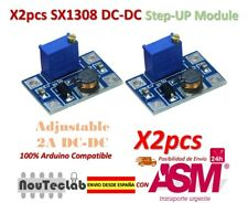 2pcs DC-DC SX1308 Step-UP Adjustable Step Up Boost Converter 2-24V to 2-28V 2A
