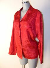 Rote Bluse in sich gemustert Marke Sekret Treasures Gr XL