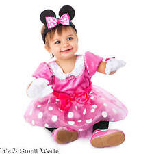 Disney Store Minnie Mouse Pink Baby Costume Gloves Ear Headband 6 12 18 24 moNWT