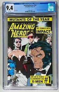 AMAZING HEROES #192 CGC 9.4 WP NM (MARVEL 1991) VERY RARE JIM LEE X-MEN 🔑