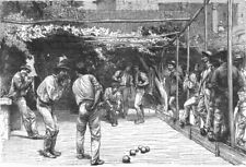 ROME. A Game of Bowls in 1880 old antique vintage print picture
