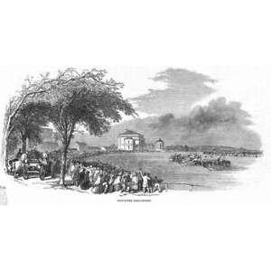 DONCASTER Race Course - Antique Print 1850