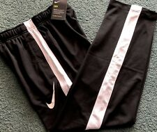 NWT Nike Boys Youth L Black/White Dri-Fit Micro Mesh Athletic Pants YLG Large