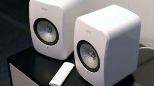 KEF LSX Wireless Active Speakers - White
