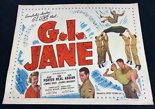 Vintage G.I. Jane Movie Poster