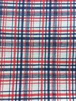"""Vintage Red White Blue Glen Plaid Twill Patriotic Fabric 3 yds 45"""" wide"""