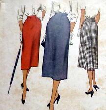 *LOVELY VTG 1950s SKIRT Sewing Pattern Waist 26