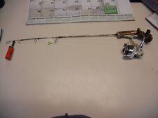 "Handmade Custom Ice Fishing Rod Medium Ice Rod 26"" HT Fish Hunter Combo"