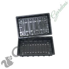 20 x Full Size Heavyweight Seed Trays Water Propagator With Holes Flexible
