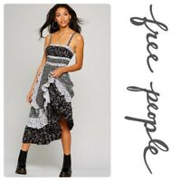 $128 - NEW Free People 'Yesica' Floral Maxi Dress Midnight-Sizes 4 SOLD OUT