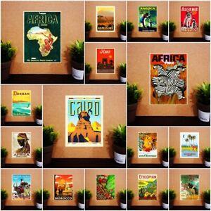 "Fridge Magnet South Africa Egypt Morocco Vintage Travel Gift 2x3"" BUY 2 GET 2"