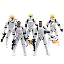 5pcs Star Wars 2005 Clone Pilot TROOPER ROTS 501st 3 3/4 inches Figures Toy S341