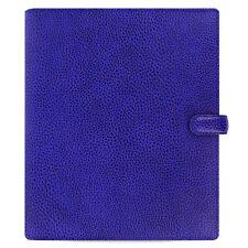 Filofax Finsbury A5 Organiser Electric Blue Textured Rambler Print Leather