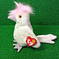 NEW Ty Beanie Baby KuKu The Cockatoo 1997 Retired Plush Toy Bird - Free Shipping