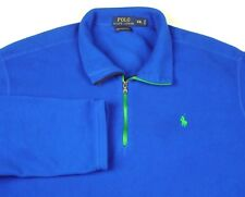 Polo Ralph Lauren Performance Blue 1/4 Zip Pullover Green Pony Sz XXL 2XL EUC
