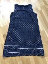 Kleid STREET ONE Gr. 40/42 L  Maritim blau-weiß Anker   ✿ڿڰۣ✿